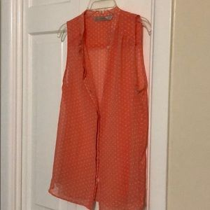 ZARA Sleeveless Blouse w/Polka Dots